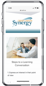 MYNTIX Mobile Learning Platform with Synergy Credit Union Branding